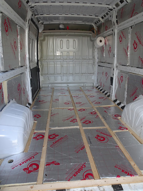 how to fit insulation in van