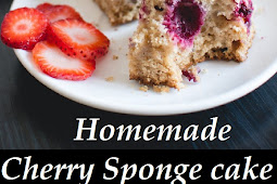 Homemade Cherry Sponge cake