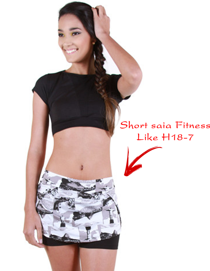 Short saia Fitness é na Trimoda