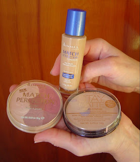 Rimmel Stay Matte Pressed Powder, Match Perfection Blush, Foundation.jpeg
