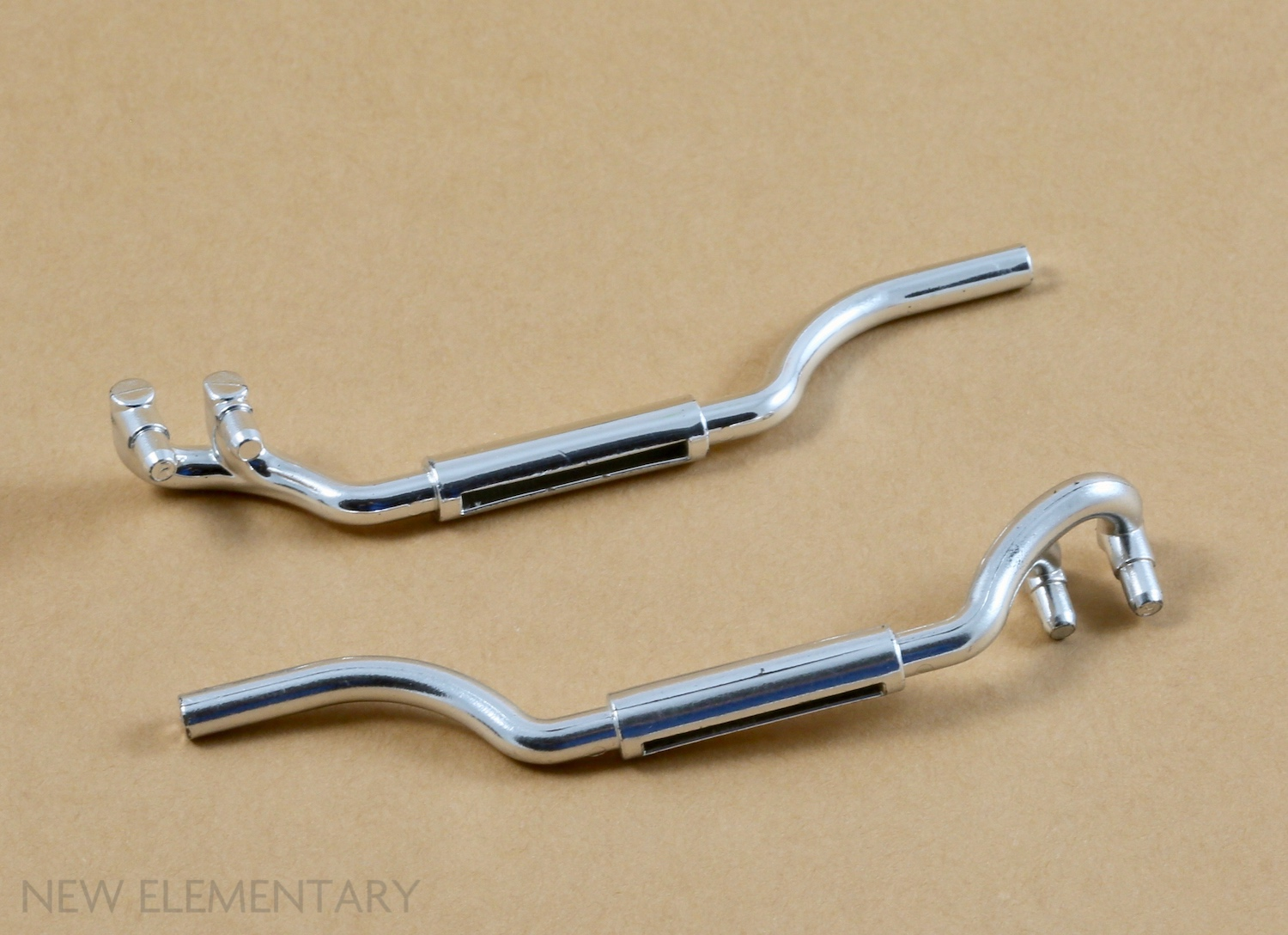 1x Lego Exhaust Chrome Silver Left Exhaust Pipe 11L Car Exhaust Pipe 4466