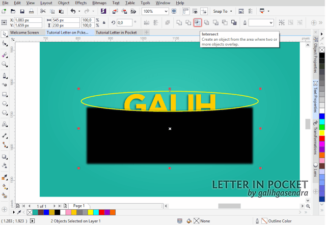 CorelDRAW Tutorial Text Effect Typography