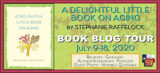 A Delightful Little Book on Aging book blog tour promotion banner