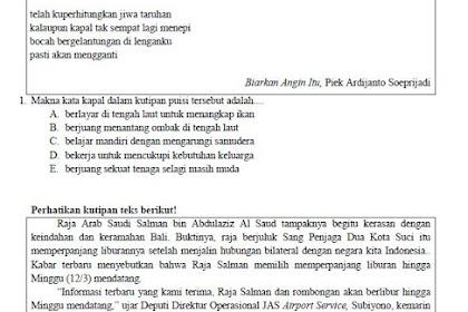 Soal USBN Bahasa Indonesia SMA MA