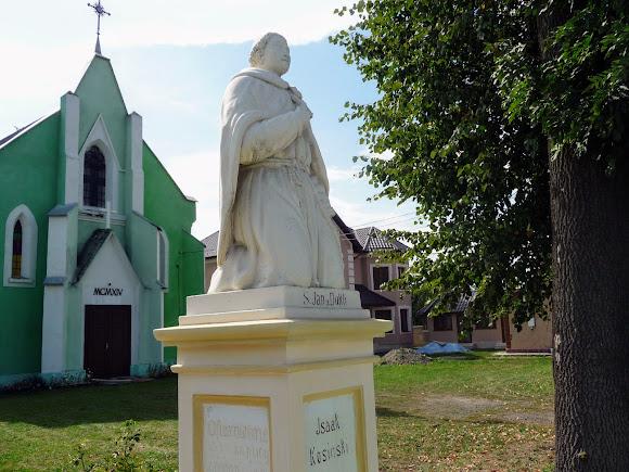 Лужани. Костел св. Яна з Дуклі. 1914 р. Пам'ятник св. Яну. 1847 р.