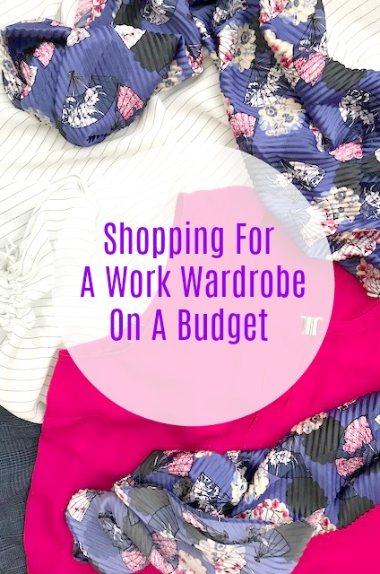 Shopping For A Work Wardrobe On A Budget using a capsule wardrobe that will transition from winter to spring