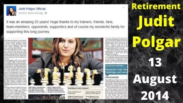 Judit Polgar Retirement