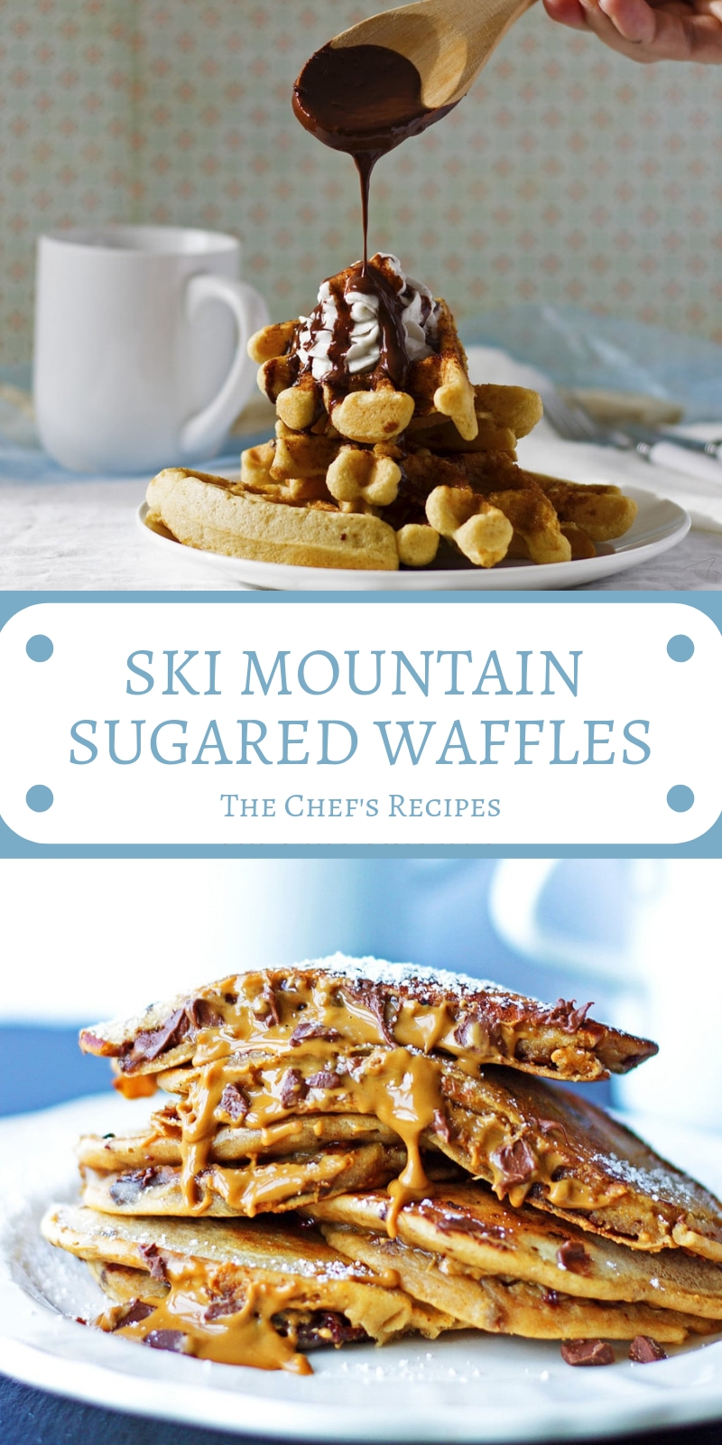 SKI MOUNTAIN SUGARED WAFFLES