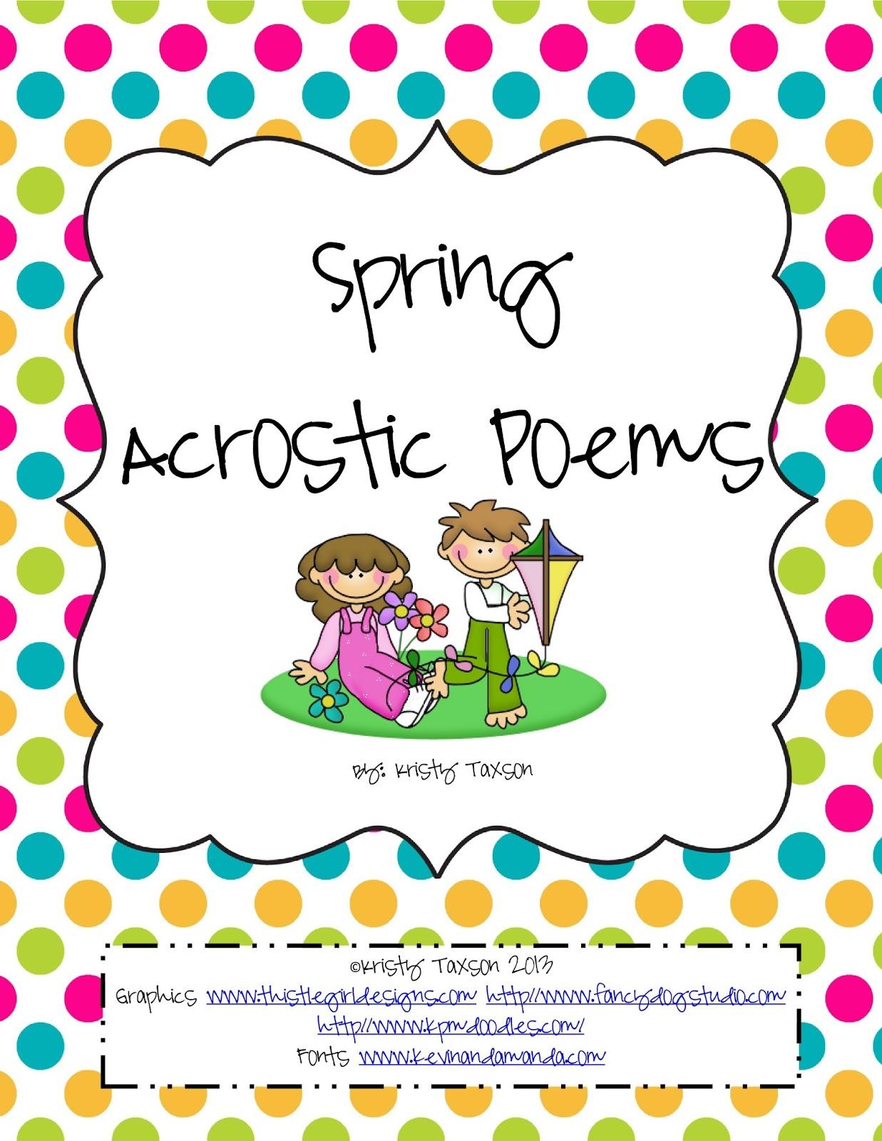 Springtime Poems For Kindergarten Images