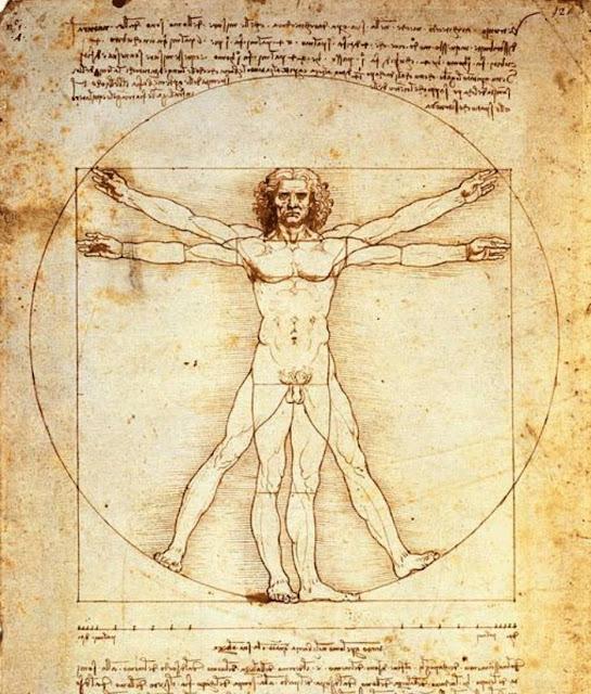 O Homem Vitruviano, desenho de Leonardo da Vinci