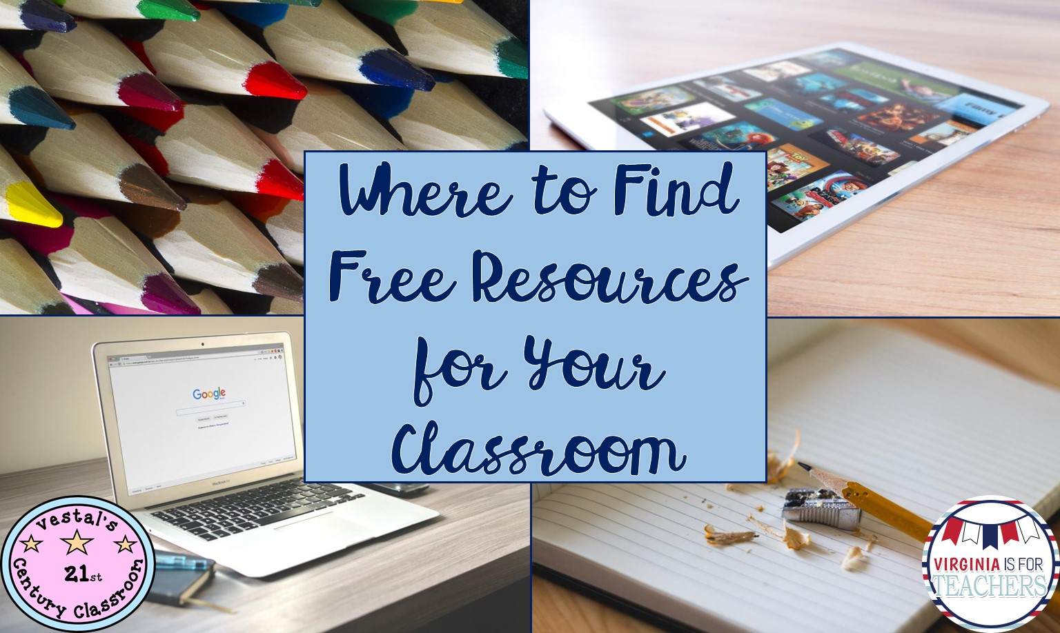 A list of places to find free teaching resources for your classroom!