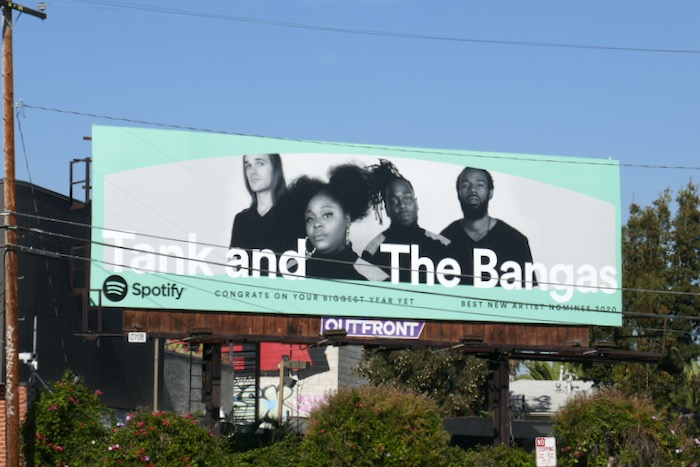 Tank and Bangas 2020 nominee Spotify billboard