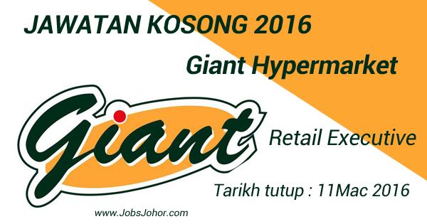 Jawatan Kosong Giant Hypermarket Johor Bahru 2016
