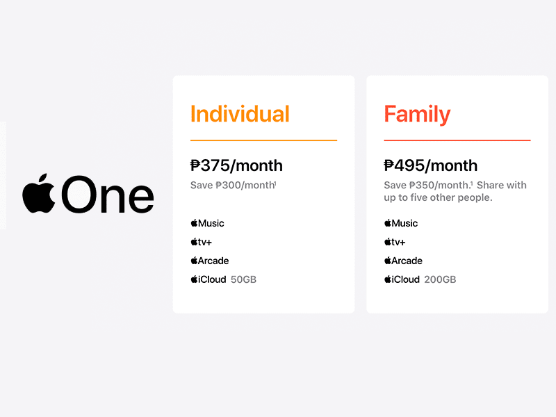 Apple One subscription starts at PHP 375 in the PH!