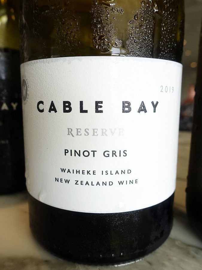 Cable Bay Reserve Pinot Gris 2019 (90+ pts)