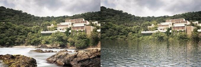 Photoshop: Cách tạo mặt nước phản chiếu công trình kiến trúc