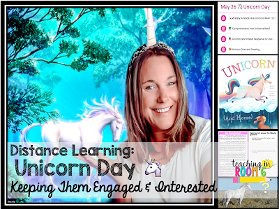 Engaging the students over Zoom with Theme days, like Unicorn Day