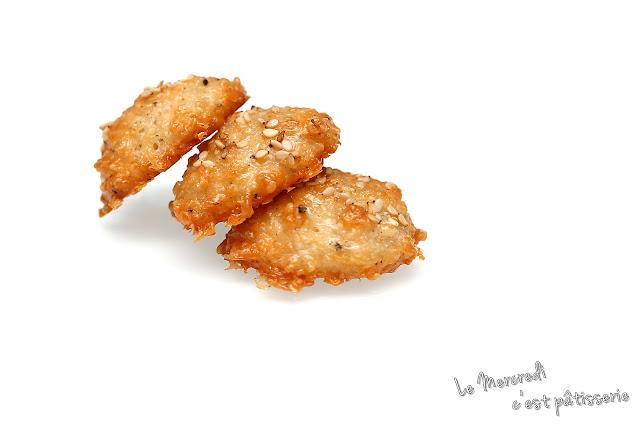 Biscuits apéritifs au comté et aux graines