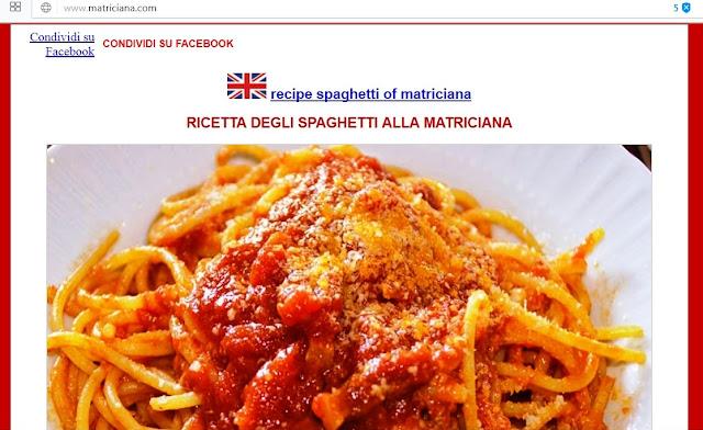 Spaghetti (paste) alla Matriciana