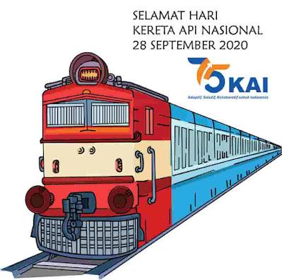hari kereta api nasional ke 75 tahun 2020