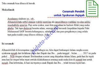 Gambar Ilustrasi dan Teks Ceramah Pendek untuk Syukuran Aqiqah