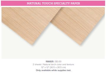 Stampin' Up! Exclusive Specialty Paper available during the Butterfly Bouquet promotion called Natural Touch Specialty Paper