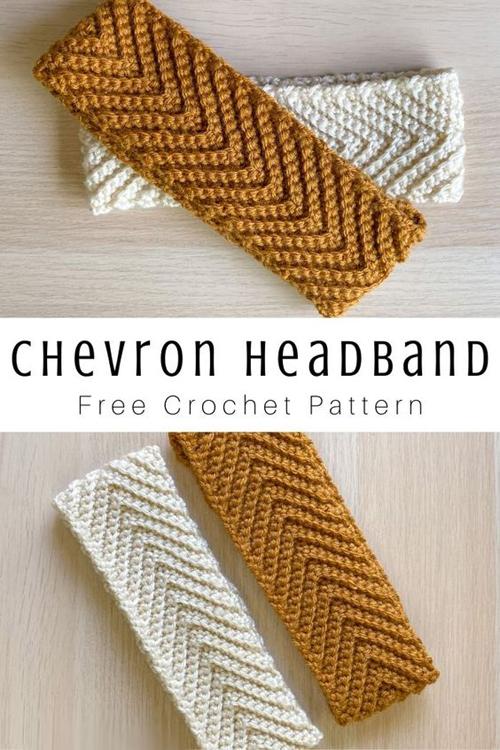 Gray Skies Crochet Chevron Headband - Free Pattern
