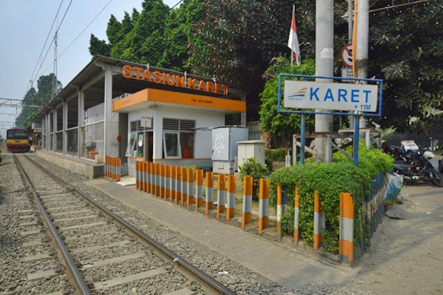 Gambar stasiun Karet Jakarta