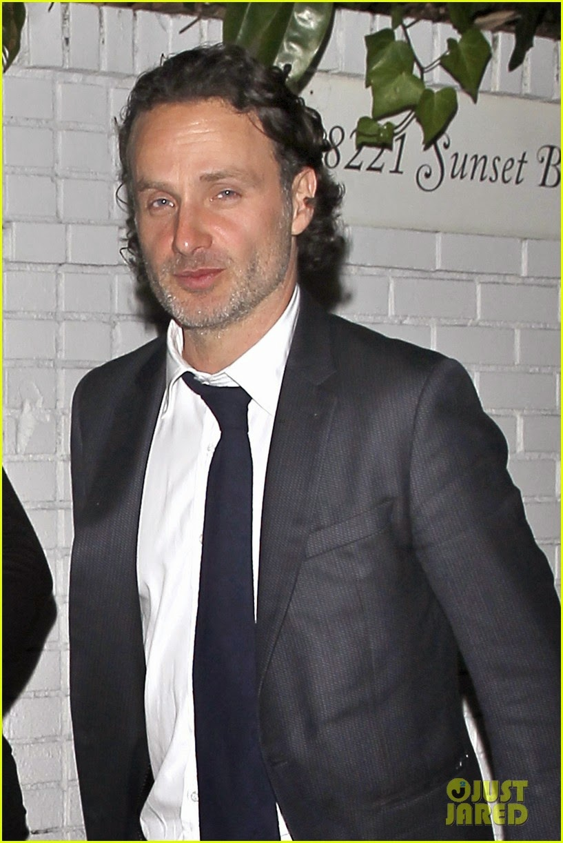 celeb diary: andrew lincoln heading to the chateau marmont for a