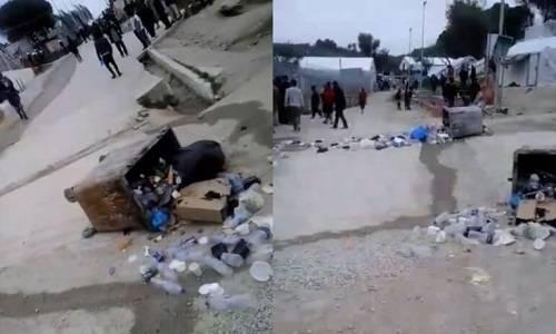 Επεισόδια και πέτρες κατά αστυνομικών στο hotspot της Μόριας (video)