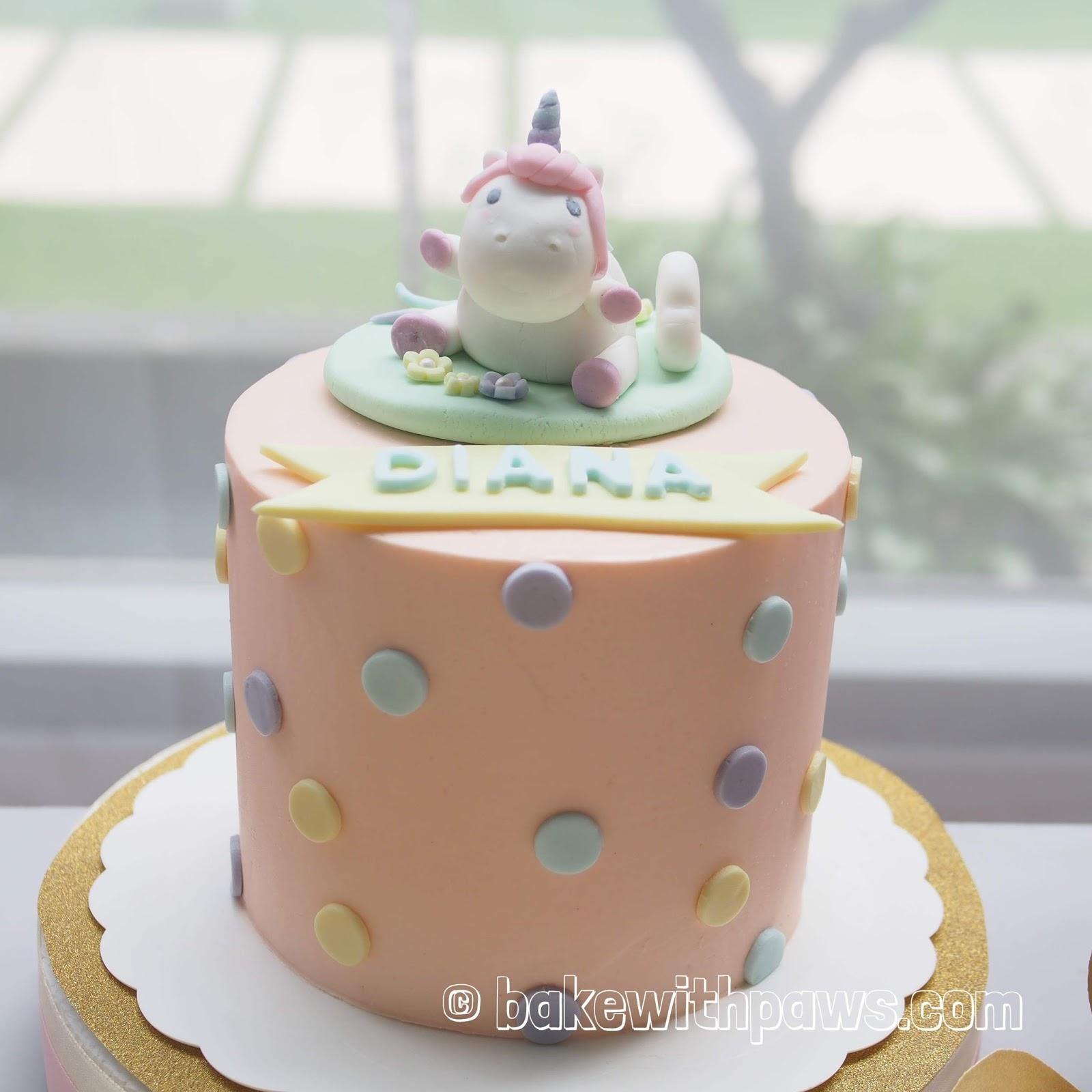 Baby Unicorn Cake Bake With Paws