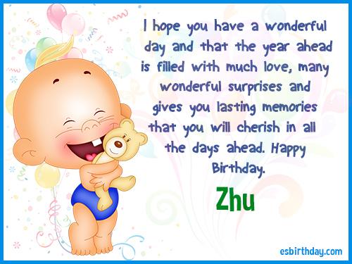 Zhu Happy birthday