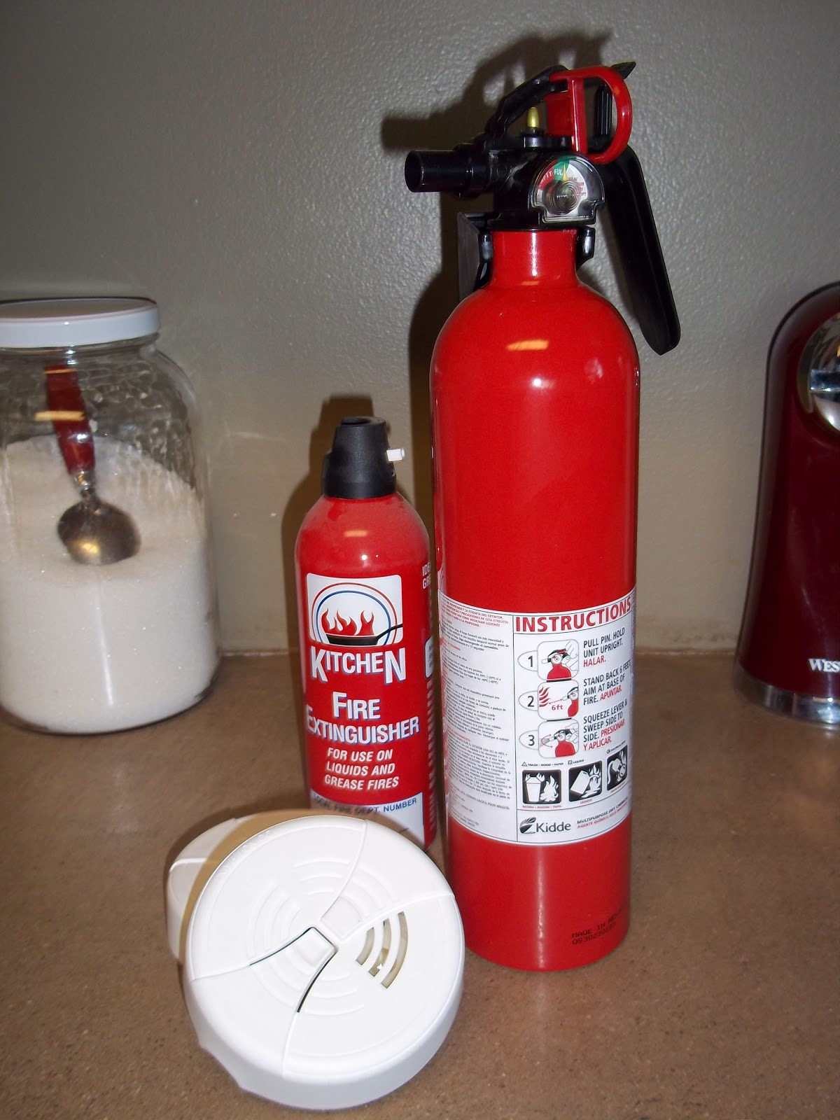 Kitchen Smoke Detector Best Value Cabinets Homesteading Wife Fire Safety