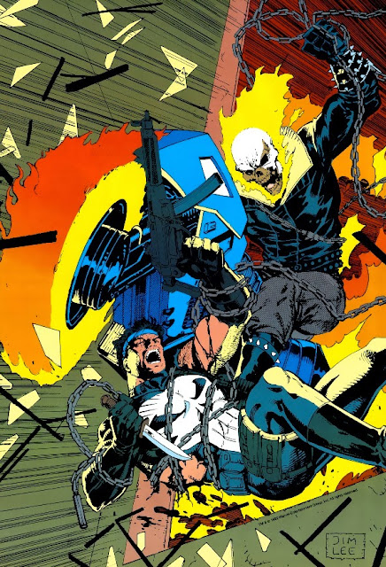 Ghost Rider vs Punisher Jim Lee