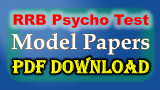 RRB Psycho Test Model Papers PDF Free Download