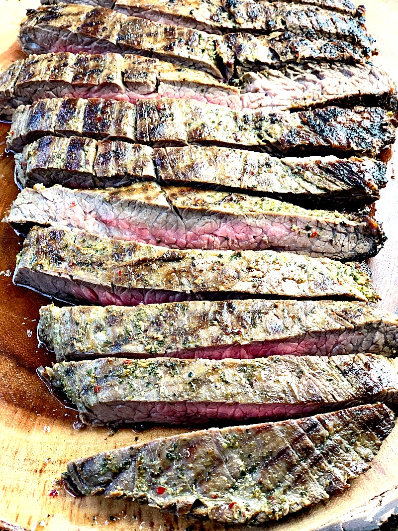 Chimichurri Flank Steak - This Chimichurri Flank Steak recipe is easy to make, full of flavor, and perfect for your keto or low-carb diet! #meat #beef #marinade #chimichurri #sauce #lowcarb #glutenfree #keto #easy #mealprep #recipe   bobbiskozykitchen.com