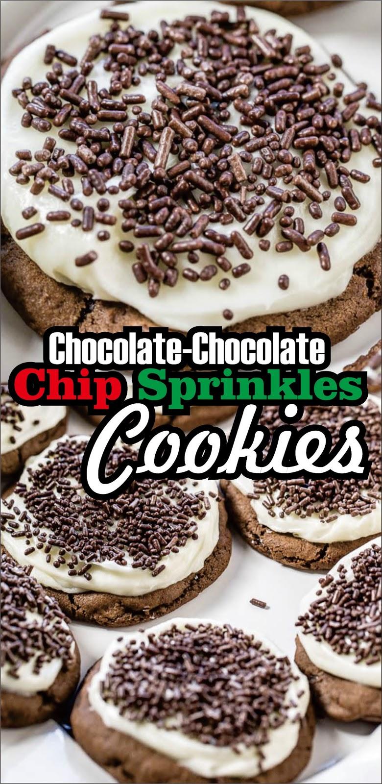Chocolate-Chocolate Chip Sprinkles Cookies - Easy Kraft Recipes