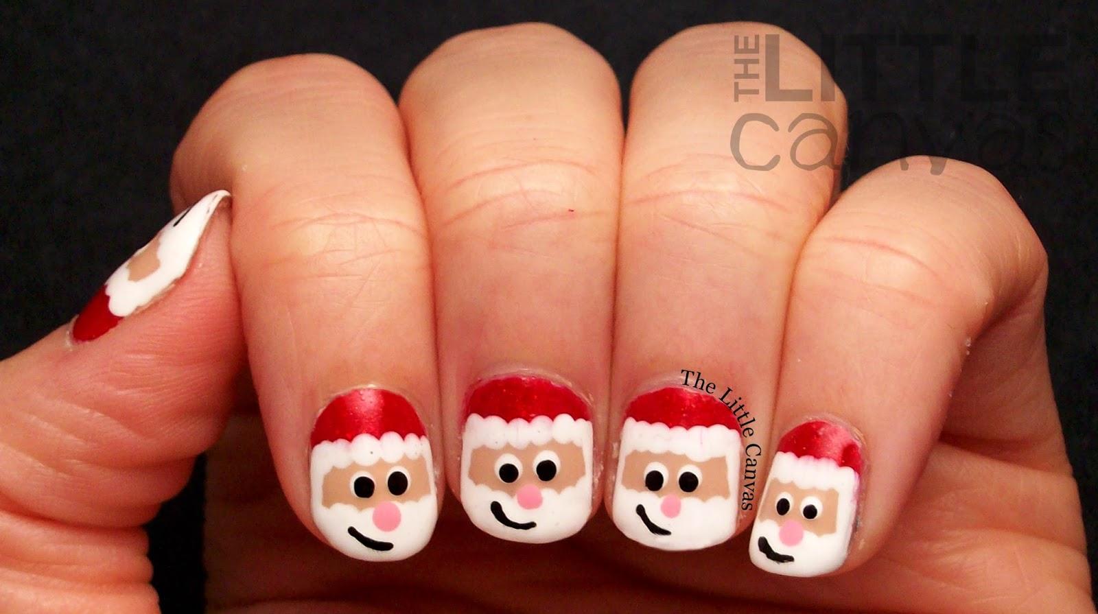 Santa Claus Nail Art Take 2 The Little Canvas