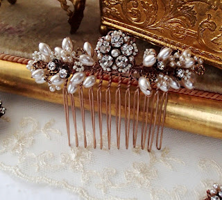 wedding jewelry, bridal style, vintage style weddings, wedding ideas, hair accessories, hair brooch, hair comb, bridal hair comb