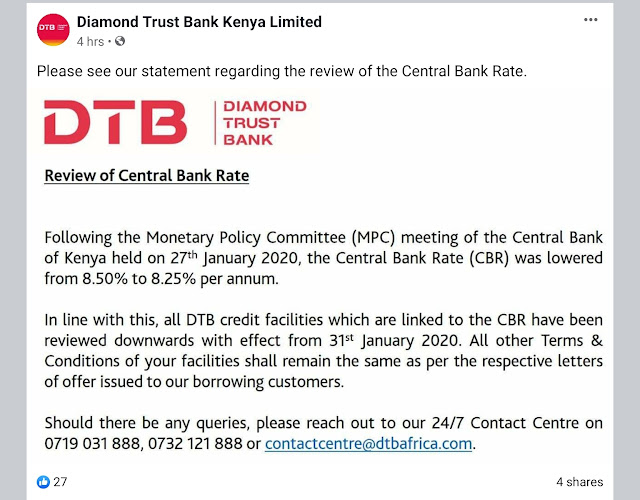 DTB Statement on CBR review