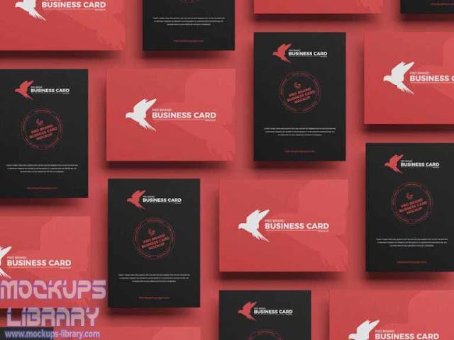 pro brand business card mockup