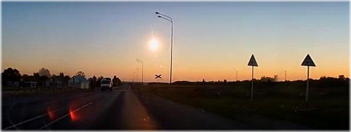 meteorito meteoro bola de fogo na Russia em 21 de junho de 2018