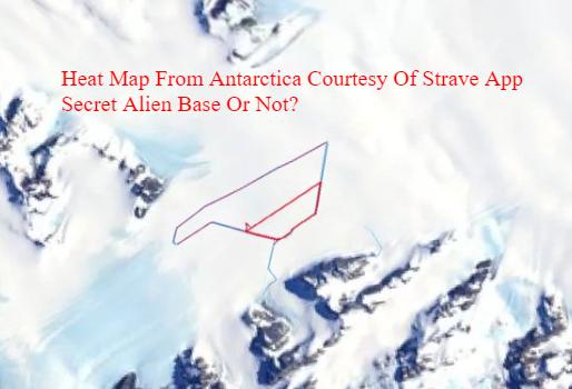 Strava fitness app image of Antarctica.