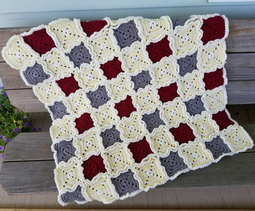 Rag Quilt Style Baby Blanket - Free Pattern
