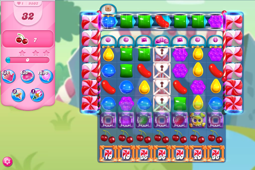Candy Crush Saga level 9802