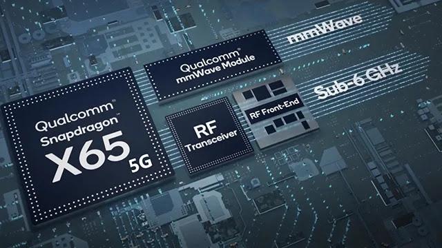 Qualcomm annonce le modem X65 5G pour les futures téléphones.