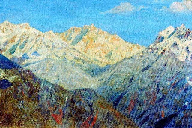 Василий Васильевич Верещагин - Гималаи. Главная вершина. 1875