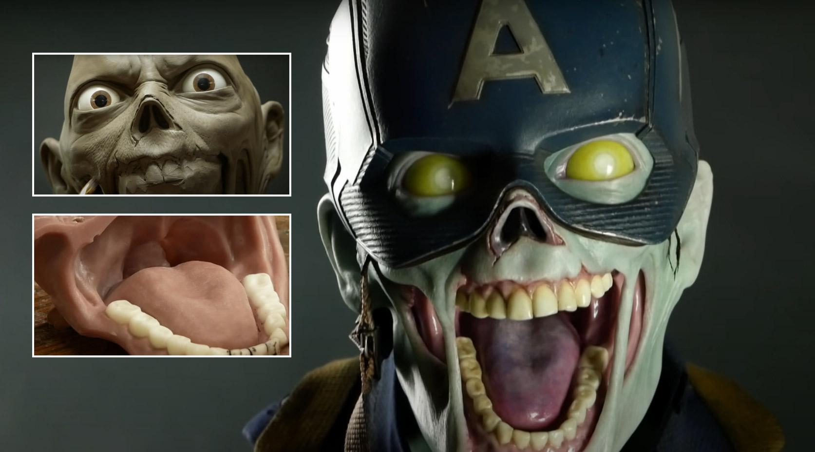 Artista Steven Richter compartilha vídeo timelapse de escultura da versão zumbi do Capitão América