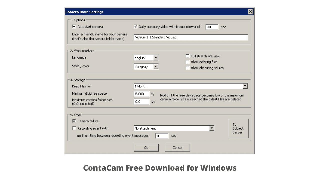 ContaCam Free Download for Windows 10, 7, 8
