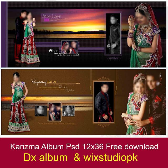 karizma-album 12x36 psd templates free
